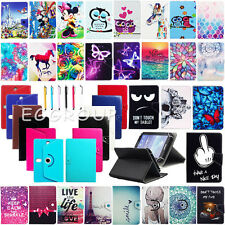 Popular Universal Leather Stand Case Cover + Pen For Google Nexus 7 9 10 Tablets