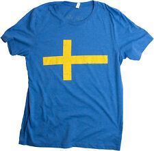 Swedish Flag | Vintage Style, Retro-Feel Sweden Flag & Kronor Unisex T-shirt