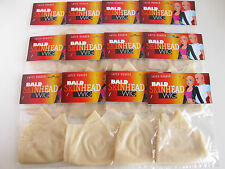 BALD CAP LATEX FLESH SKIN COSTUME BALD HEAD WIG CAP RUBBER SKINHEAD LOT DOZENS