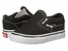 Unisex Toddler Vans VN-0EX8BLK Classic Slip-On Skate Black Brand New