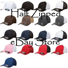 20 Flexfit Trucker Cap Fitted Mesh Baseball Hats 6511 One Size Hat WHOLESALE