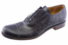 Levi's Mens Capital E Embossed Leather Oxford Shoes Black 2412-07 NEW