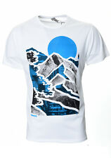 Mens Bench t-shirt | Mountain Lines | White | RRP £24.99