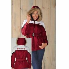 $115.00 NFL Womens The Looker Jacket with Faux Fur Trim Hood-Buccaneers ONLY $40