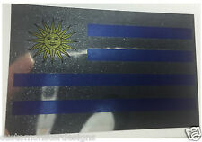 URUGUAY FLAG Decal Vinyl Sticker chrome or white vinyl decal and 15 sizes!