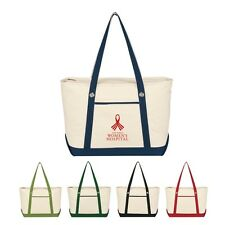 24 Large Canvas Beach Bags personalized with your custom logo Item 3225