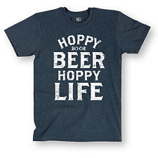 Hoppy Beer Hoppy Life Funny Party Humor College Cool Novelty - Men's T-Shirt