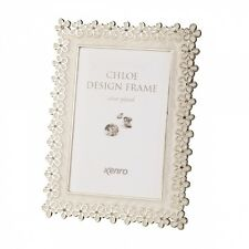 """Kenro Silver Plated White Frame 6x4"""""""
