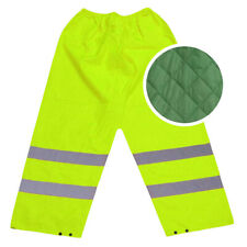 HIGH VISIBILITY PADDED TROUSERS HI VIS VIZ REFLECTIVE SAFETY ALL COLOURS SIZES