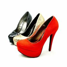 Ladies high heel platform party court shoes