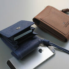 Unfold Card Wallet - Credit Card Case Necklace Business Card Holder Neck Strap