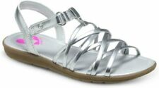 NIB Girls Sandals STRIDE RITE Nandini Pewter Silver Strap 9 10 11 12 M