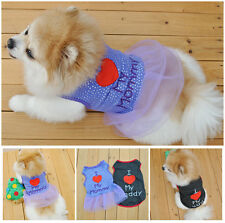 Summer Various Vest Pet Small Dog Cat T Shirt Clothes Puppy Dress Apparel Couple