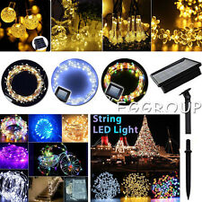 10-300 Led Solar/Battery Power Fairy Light String Lamp Party Xmas Garden Outdoor