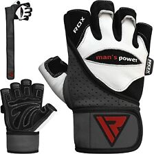 RDX Weight Lifting Gloves Gym Wrist Straps Body Building Glove Leather Training