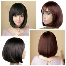 Hot Short Wig Anime Cosplay Party Straight Hair Cosplay Full Wigs With Bangs