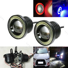 "Car 30W 2.5"" 3.0"" 3.5"" LED Projector Work Light Fog Lamp W/ Halo Angel Eye Rings"