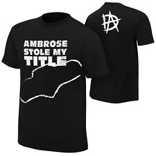 "WWE DEAN AMBROSE ""STOLE MY TITLE"" SPECIAL EDITION OFFICIAL T-SHIRT NEW ALL SIZES"