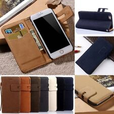For iPhone 6 6Plus/5 S/4 4s Flip Card Holder Leather Wallet Case Cover Skin New
