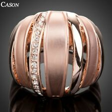 Unique Design Women Party Ring Fashion Austrian Crystal 18k Gold Plated Jewelry