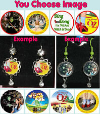 The WIZARD OF OZ Earrings You Choose Image & Style Rhinestone Witch Ruby Shoes
