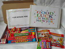 Retro Sweets Gift Box GOOD LUCK FREE personalisation  (45 sweets)