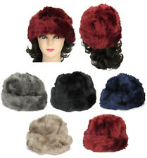 Women Lady Winter Faux Fur Crochet Knit Head Wrap Headband Ear Warmer Muffs
