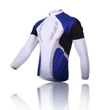 Men's Blue Speed Cycling Jerseys Bicycle Clothing Biking Wear Long Sleeve Top