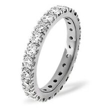 Special Offer!!!  Round Diamond Claw set Full Eternity Ring  in 18k White Gold.