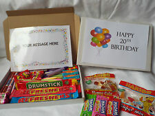Retro Sweets Gift Box 20th to 29th Birthday FREE personalisation  (45 sweets)