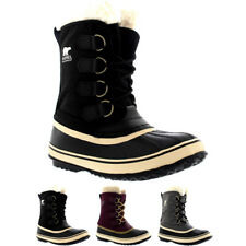 Womens Sorel Winter Carnival Waterproof Duck Rain Winter Snow Wool Boots US 5-11