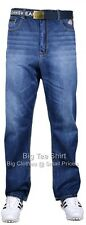 Big Mens Mid Wash Kam Hick 30 Inch IL Jeans Size 42 44 46 48 50 52 54 56 58 60
