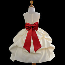 FLOWER GIRL DRESS PICK-UP WEDDING BRIDESMAID COMMUNION EASTER ~FREE SHIPPING USA