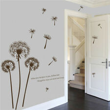 DIY Dandelion Fly Mural Removable Decal House Room Wall Sticker Home Decor Vinyl