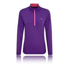 Ronhill Thermal 200 Womens Purple Half Zip Long Sleeve Sports Running Top