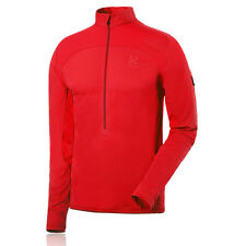 Haglofs Mens Puls Red Breathable Half-Zip Long Sleeve Outdoors Running Top