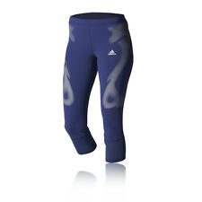 Adidas Adizero SprintWeb Womens Blue Capri Running Training Sport Tights