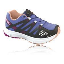 Salomon XR Mission Junior Boys Girls Purple Trail Running Shoes Sports Trainers
