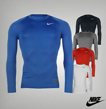 New Mens Genuine Nike Compression Baselayer Pro Core Long Sleeve Top Size S-XXL