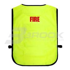 PRINTED FIRE HIGH VISIBILITY TABARD HI VIS VIZ SAFETY WAISTCOAT
