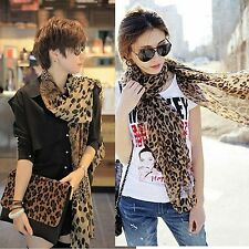 New Brand Fashion Leopard Pattern Shawl Scarf Wrap for Women
