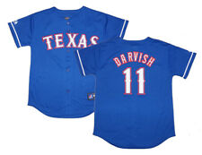 NWT Majestic Yu Darvish Texas Rangers Youth Replica Alternate 2 Jersey