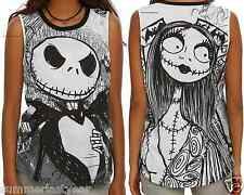 JACK AND SALLY MUSCLE TOP FOR JUNIORS ~DISNEY~ THE NIGHTMARE BEFORE CHRISTMAS