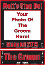 Personalised Iron on Photo Transfer with Name Plate for Stag Do/Night-on A4