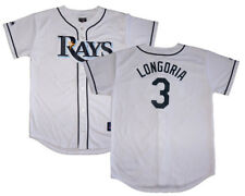 NWT Majestic Evan Longoria Tampa Bay Rays Youth Replica Home Jersey