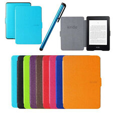 Folio Smart Leather Case Cover Stylus Pen for Amazon Kindle Paperwhite 11 Colors