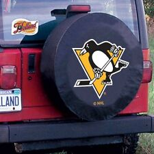 Pittsburgh Penguins NHL Black Spare Tire Cover By HBS