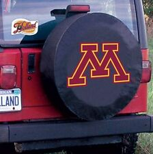Minnesota Tire Cover with Golden Gophers Logo on Black Vinyl