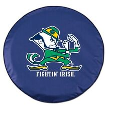 Notre Dame Tire Cover with Fighting Irish Leprechaun on Blue Vinyl