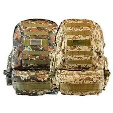 Outdoor Sport Gym School Camping Hiking Tactical Bag Camouflage + LED Flashlight